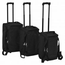 VID  3 darabos, fekete bőrönd szett