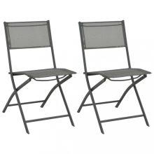 VID 2 db összecsukható acél kültéri szék