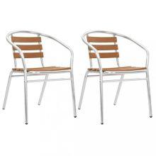 VID ezüstszínű alumínium kerti szék szett
