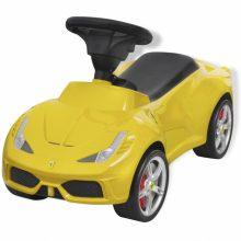 Lábbal hajtható Ferrari gyerek autó sárga színben