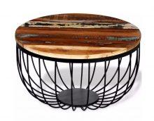 VID Tömör újrahasznosított fa dohányzóasztal