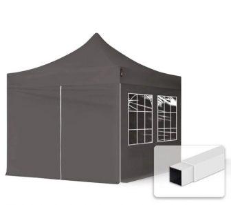 Professional összecsukható sátrak ECO 3x3m-300g/m2 ponyvával-acélszerkezettel-sötétszürke