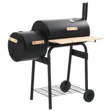 VID klasszikus faszenes grillező különálló füstölővel