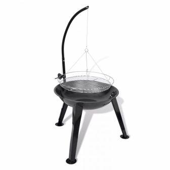 VID Faszenes barbecue grillsütő állvánnyal