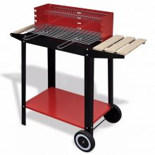 VID Klasszikus faszén grillsütő állvánnyal Piros