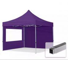 Professional összecsukható sátrak ECO 300 g/m2 ponyvával, alumínium szerkezettel, 2 oldalfallal - 3x3m lila