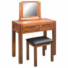 VID akácfa fésülködőasztal ülőkével és tükörrel
