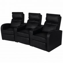 VID TV néző fotel/mozifotel pohártartóval - 3 személyes