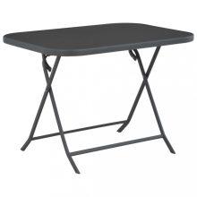 VID üveg és acél összecsukható kültéri étkezőasztal 100x75x72 cm
