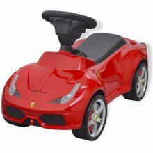 Lábbal hajtható Ferrari gyerek autó piros színben
