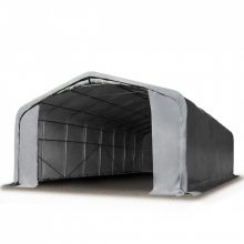 Ponyvagarázs/ sátorgarázs / tároló 6x12m-2,7m oldalmagasság, tűzálló PVC 720g/nm kapuméret: 4,1x2,9m