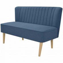 Kék szövet retro kanapé