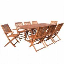 VID 8 személyes - 9 részes kerti fa garnitúra 180 cm-es asztallal