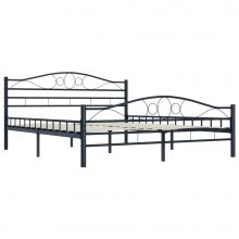 VID fekete acél ágykeret 180x200 cm