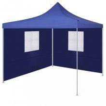 VID kék színű összecsukható sátor 2 fallal 3x3 méter