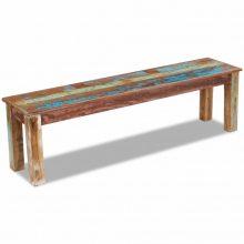 VID Tömör újrahasznosított fa pad 160x35x46 cm
