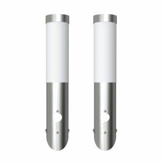 VID Mozgásérzékelős fali lámpatest rozsdamentes acél 2 db