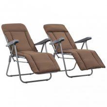 VID 2 db barna összecsukható kerti szék párnával