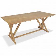 VID tömör tíkfa kültéri étkezőasztal 180 x 90 x 75 cm