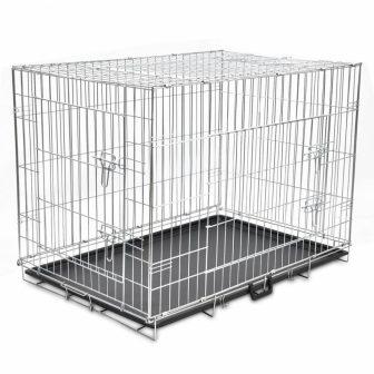 VID Összecsukható kutyaszállító ketrec 109 x 70 x 78 cm