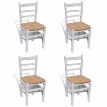 4 db retro fa étkezőszék fehér színben