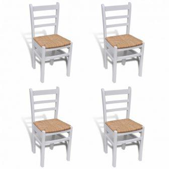 VID 4 db retro fa étkezőszék fehér színben