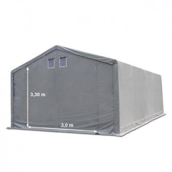 Raktársátor 5x10m professional 3m oldalmagassággal, 550g/m2