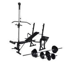 VID edzőpad állvánnyal, egykezes és kétkezes súlyzószettel 30,5 kg 163470