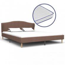 VID szövetágy memóriahabos matraccal barna 180x200cm