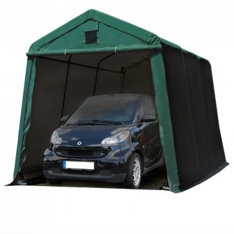 Ponyvagarázs/ sátorgarázs / tároló zöld színben- 2,4x3,6m -PVC 500g/nm