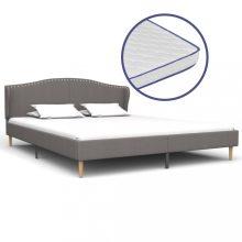 VID világosszürke szövetágy memóriahabos matraccal 160x200 cm
