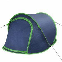 Két személyes pop up sátor sötétkék-zöld színben