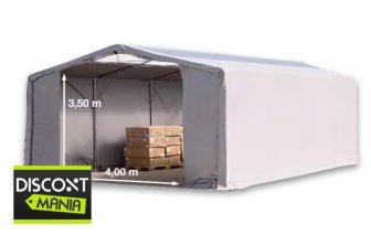 Raktársátor 8x8m professional 3m oldalmagassággal, 550g/m2 - tetőablakkal