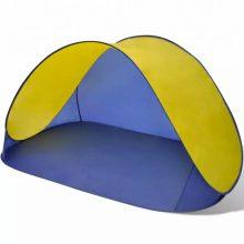 Vízálló tengerparti félsátor kék-sárga színben