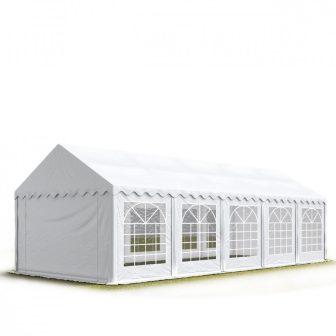 TP Professional deluxe 4x10m nehéz acélkonstrukciós rendezvénysátor erősített tetőszerkezettel