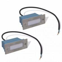 Kültéri/beltéri LED lépcsőbe építhető lámpa [2 db]