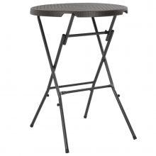 VID barna rattan hatású összecsukható bárasztal 80 x 110 cm