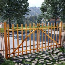 VID impregnált, dupla mogyorófa deszka-kerítéskapu 300 x 150cm