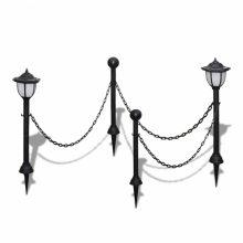 Lánc kerítés kültéri lámpával 2  db LED Lámpa