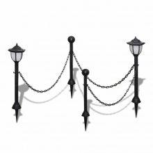 VID Lánc kerítés kültéri lámpával 2  db LED Lámpa
