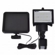 Kültéri napelemes LED mozgásérzékelős reflektor