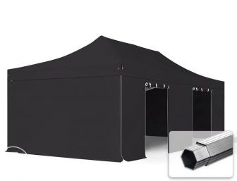 Professional összecsukható sátrak PROFESSIONAL 4x8m-400g/m2-alumínium szerkezettel-fekete