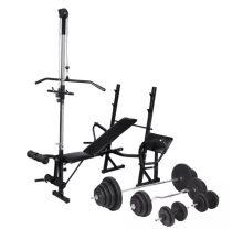 VID edzőpad állvánnyal, egykezes és kétkezes súlyzószettel 120 kg 181902