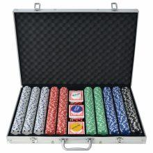 VID Pókerkészlet 1000 alumíniumzsetonnal