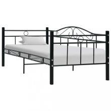 """VID Fém ágy 90x200 cm """"V4"""", ágyráccsal, fekete színben"""