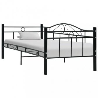 VID fekete fém ágykeret 90x200 cm