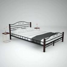 VID fémkeretes ágy matraccal 140x200 cm