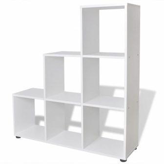 """VID Lépcsőzetes könyvespolt """"San Fransisco"""" 02 - fehér színben"""