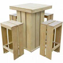 VID 5 részes impregnált fenyőfa étkezőgarnitúra 75 x 75 x 110 cm