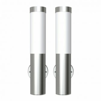 """VID Rozsdamentes acél vízálló kültéri lámpa 2 db """"V2"""""""